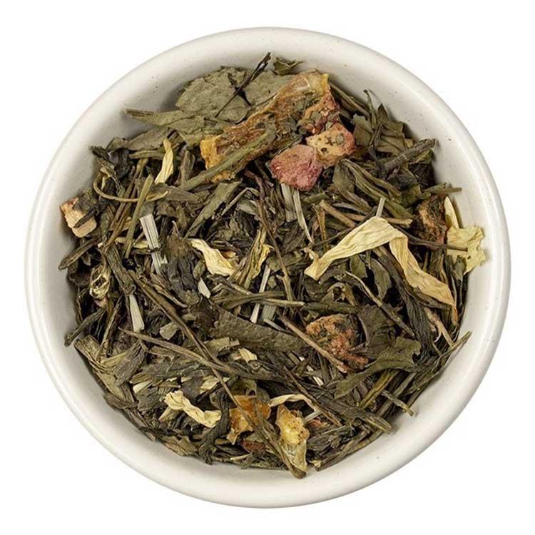 Losse Thee - Sencha Aardbei   Tea4you - SmaakGenot