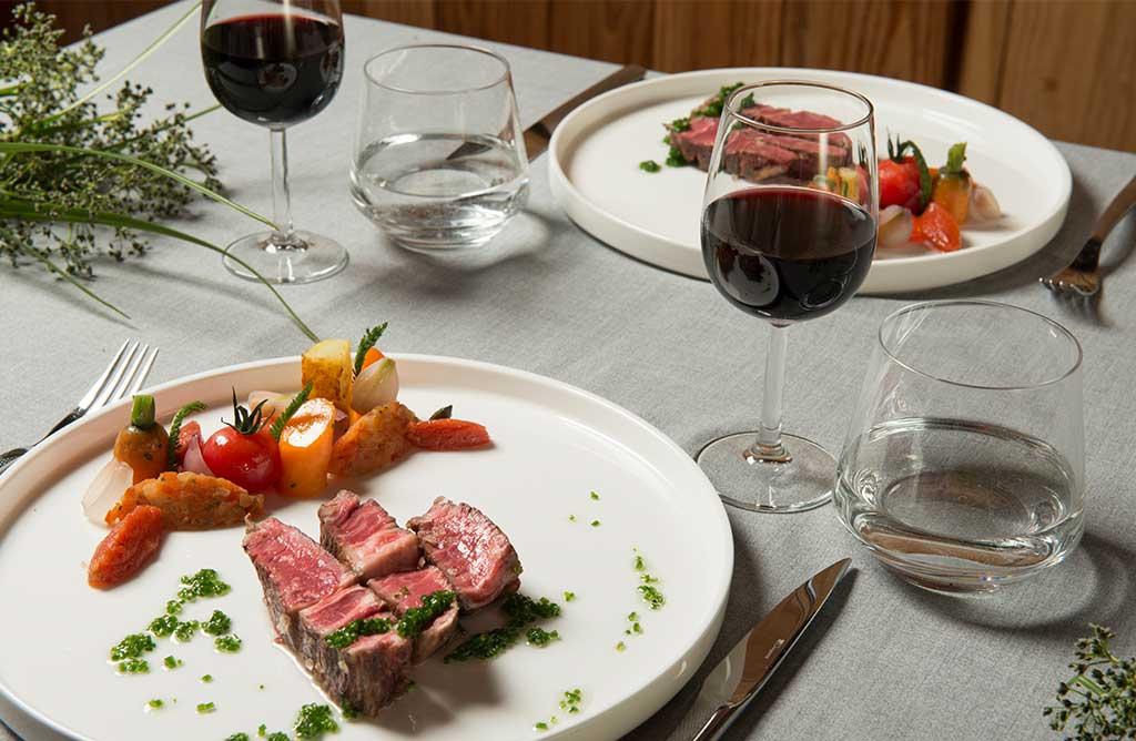 Culinair diner met wagyu